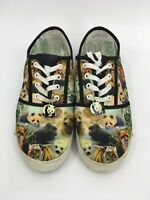 Womens Sz 8 The Bradford Exchange Wearable Art Shoes 2011 Pandas