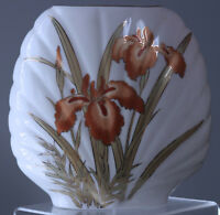 "Vintage Fine china VaseIris Flowers  Japan 6.75"" tall"