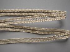 GALON DENTELLE ancienne, AU METRE , larg.10 mm, métallisé ECRU / OR, réf 494
