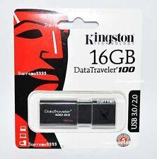 Kingston USB 3.0 DataTraveler DT100G3/16GB 16GB 16G USB3.0 USB3 Flash Pen Drive