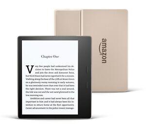 Amazon Kindle Oasis 32Gb WiFi Champagne Gold eReader Waterproof Adjustable light