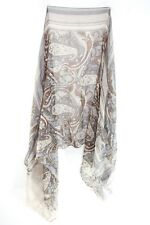 ELEGANT LADIES BROWN FLORAL/ TRIBAL PATTERN INFUSED GRAPHIC SCARF UNIQUE(MS37)