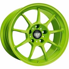 OZ RACING ALLEGGERITA HLT 5F ACID GREEN ALLOY WHEEL 17X8 ET35 5X100