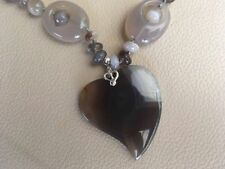 "Handmade Agate Natural 18 - 19.99"" Fine Necklaces & Pendants"