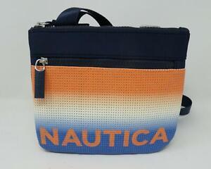 "Nautica ""Let's Do Sunset"" Mini Crossbody Purse Bag Blue/Orange/White - NWT"
