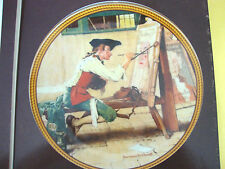 "Norman Rockwell ""Sign of the Times"" Plate for Edwin Knowles co."
