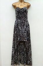 NWOT H&M Strapless High Low Short Long Dress Size UK 14 (US 10) Sheer Leopard