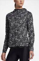 Nike Shield Impossibly Light (Rostarr) Women's Running Jacket Black/White Small