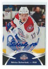 Nikita Scherbak Signed 2015/16 Upper Deck AHL Autograph Card #21