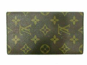 Authentic Louis Vuitton Monogram Agenda Poche R20503 PVC Leather 87226