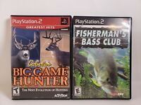 Lot Of 2 Ps2 Games Hunting and Fishing Cabelas Big Game & Fisherman's Bass Club
