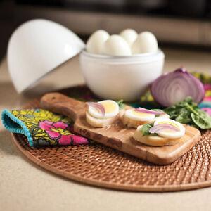 US White Ball Shape Microwave 4-6 Eggs Cooker Hard Boiled Boiler Home Kitchen