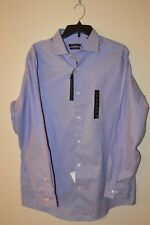 New $59.50 MARC ANTHONY Men No Iron Slim Purple Dress Shirt Size: 16 1/2  34/35