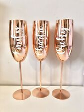 Personalised Copper Stainless Steel Champagne Flutes