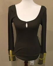 Free People Green Thermal With Cuff szSmall  NWT$68