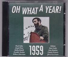 OH What a Year - 1959 CD ALBUM/Various Artists/Paul Anka/Frankie Avalon