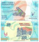 Madagascar 100 Ariary 2017 P-New New Design Banknotes UNC