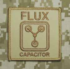FLUX CAPACITOR BACK TO FUTURE USA MILITARY DESERT HOOK & LOOP MORALE PATCH