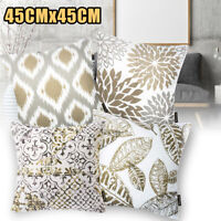 Fashion Flower Leaves Waist Throw Pillow Case Sofa Cushion Cover Home Decor