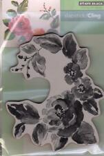 New  Penny Black RUBBER STAMP Cling FLOWER GARDEN GEMS  free USA shp