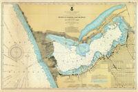 1901 Nautical Map of Muskegon Harbor & Lake Michigan