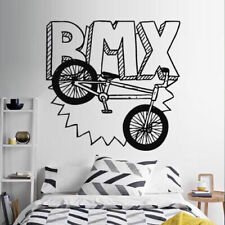 Wall Decal Sticker Vinyl Bedroom Great Bicycle Sport Bmx Jump Bike Cycle M831