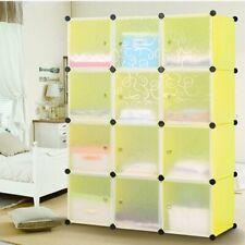 Armoire Étagère de Rangement 12 Cubes MAISON DIY En Plastique Résine Penderie CS