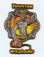 Houston Fire Department Engine 14 District 14 Wildland Patch Texas TX