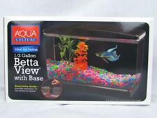 Aqua Culture Betta View Half Gallon Fish Tank with Base Aquariums & Fish Bowls