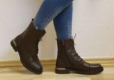 Damen-Stiefel, Stiefeletten, Boots, echtes Leder, EU 39, kastanienbraun Neu/New