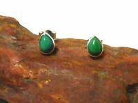 Pear Shaped  TURQUOISE   Sterling  Silver  925  Gemstone Stud Earrings