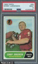 1968 Topps Football #88 Sonny Jurgensen Redskins HOF PSA 9 MINT CENTERED