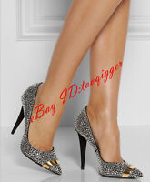 Sexy Womens Heels Rhinestones High Stilettos Pointed Toe Pumps Party Shoes Size