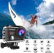 Campark 4K UHD Action Digital Camera WiFi 20MP Sports Cam +Microphone, 2020 Vers