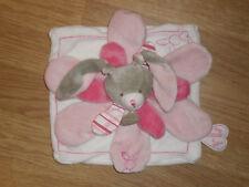 Doudou et compagnie lapin rabbit bunny hase celestine rose gris blanc pétale pla