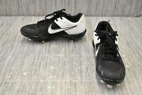 Nike Alpha Huarache Varsity Low Metal Baseball Cleats, Men's Size 8, Black