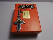James Avery 14kt Gold and Sterling Silver Crown Cross necklace ***RETIRED**