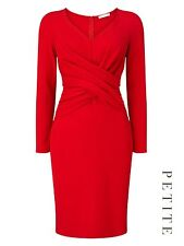 Jacques Vert Petite Ponte Dress Size UK 10 Red rrp £99 LF079 HH 13