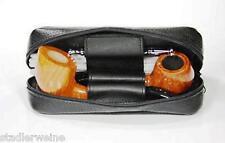 MARTIN WESS Bolsa de Pipa HIRSCH K21 / Combinada para 2 SILBAR / cuero ciervo