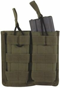 VooDoo Tactical Open Top Double Magazine Pouch with Bungee Cord System OD Green