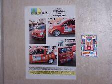 """DECALS C.B.COM. 1/43ème C2 Challenge """"Blin"""" Rouergue 2004"""