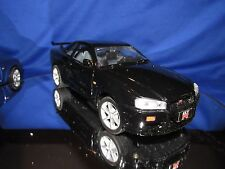 2002 SKYLINE GT-R  Import tuner NISSAN RACING 1/24  black motor max