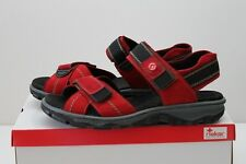 Rieker Clara 68851-33 Sandale Leder Trekking Outdoor Slipper rot Gr. 37 - 42 NEU