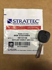 STRATTEC Recall GM Chevy Logo Circle Plus Transponder Key Blank 23234400 5913736