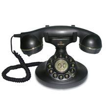 Telefon Festnetz Brondi Vintage Analog Mit Kabel Dekoration Design Alte Schwarz