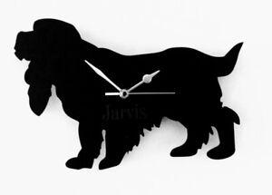 Cocker Spaniel wall clock silhouette