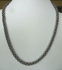 Unisex Solid Stainless Steel Rolo Link 22 Inch large Solid Necklace chain 7.5 MM