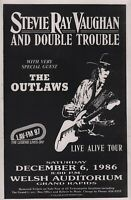 STEVIE RAY VAUGHAN 1986 TOUR ORIGINAL GRAND RAPIDS CONCERT POSTER / THE OUTLAWS