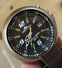 Freestyle Clip Hook Watch Night Vision Silver Steel Case 100m Date Ind Black 636