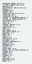 SANTA FE RAILWAY TRAIN ORDERS CD ILLINOIS DIVISION CHICAGO TO KANSAS CITY (578)